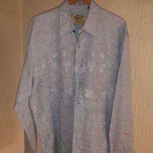 ROBERT GRAHAM MENS BUTTON DOWN DRESS SHIRT SIZE XL